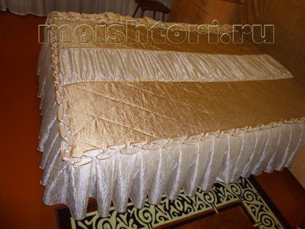 Как сшить покрывало с оборкой на кровать 268