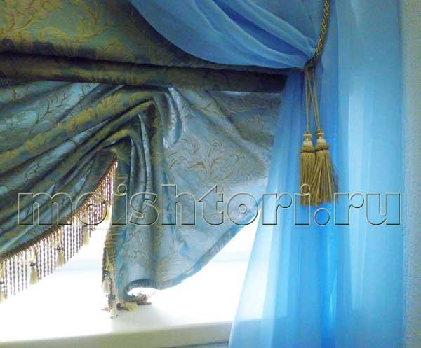 Римские шторы с мягкими складками