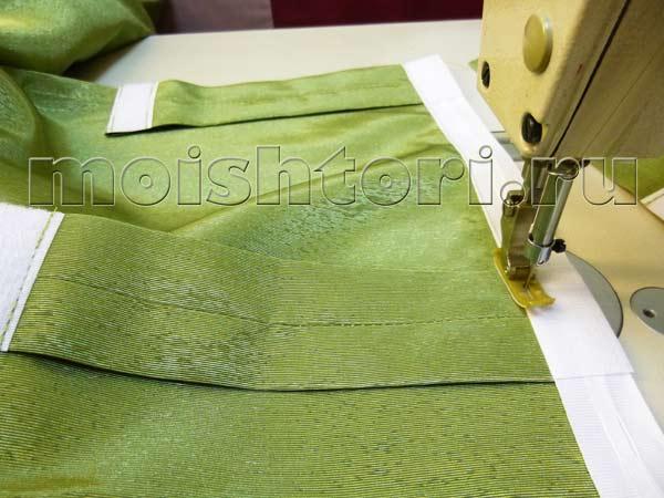 Как сшить петли на шторы из ткани 52