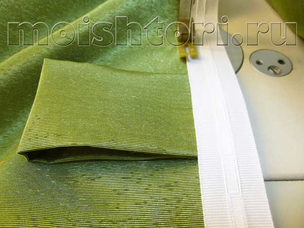 Как сшить петли на шторы из ткани 87