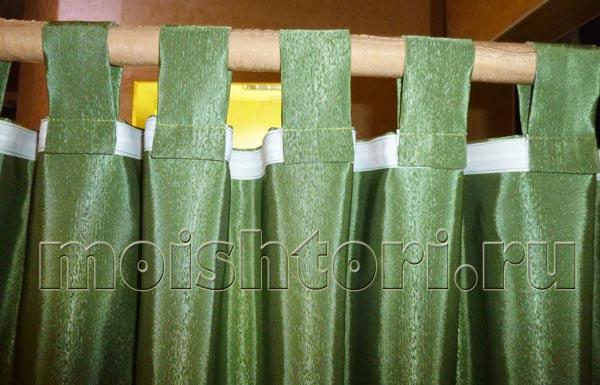 Шторы на петлях из ткани своими руками